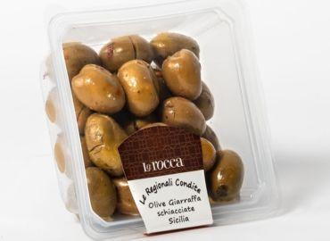 Olive Giarraffa schiacciate Sicilia